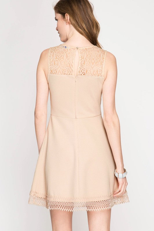 Sapi Lace Neck Dress
