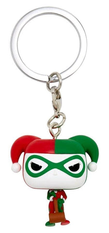 Batman - Harley Quinn (Holiday) US Exclusive Pocket Pop! Keychain [RS] - Keychain