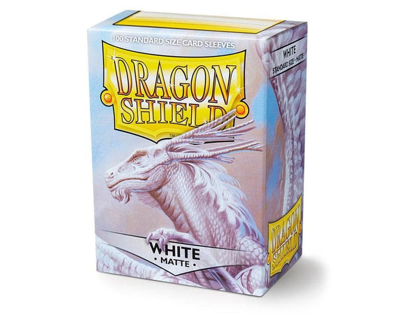 Dragon Shield White Matte Sleeves (100) - Tcg