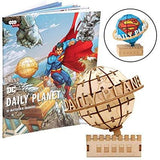 Incredibuilds DC Comics - Superman Daily Planet 3D Wood Model and Book - Construction