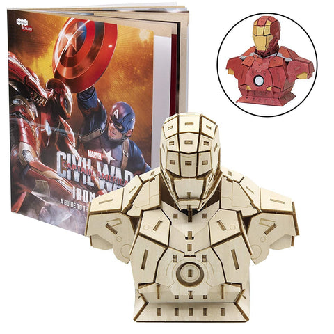 Incredibuilds Marvel - Captain America Civil War Iron Man Signature Series 3D Wood Model - Construction