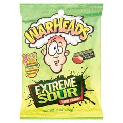 Warheads Extreme Sour Hard Candy Peg Bag