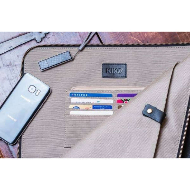 TECH ACCESSORY: Laptop Case Zippered Folio-Leather - Essentialgifting