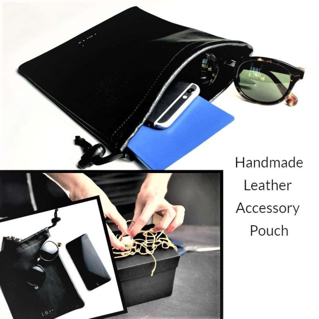 Leather Pouch for Accessories (Tech Gift) - Essentialgifting