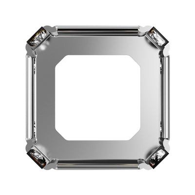 Swarovski® Crystals #4480S - Rhodium Plated Open Back Setting With Holes - 10mm