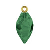 Swarovski® Crystals #6541 - Emerald, Gold Bail - 14.5mm