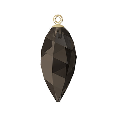 Swarovski® Crystals #6541 - Smoky Quartz, Gold Cap - 24mm