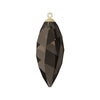 Swarovski® Crystals #6541 - Smoky Quartz, Gold Cap - 34.5mm