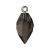 Swarovski® Crystals #6541 - Smoky Quartz, Gunmetal Bail - 14.5mm