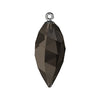 Swarovski® Crystals #6541 - Smoky Quartz, Gunmetal Cap - 24mm