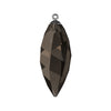 Swarovski® Crystals #6541 - Smoky Quartz, Gunmetal Cap - 34.5mm