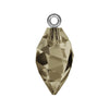 Swarovski® Crystals #6541 - Smoky Quartz, Rhodium Bail - 14.5mm