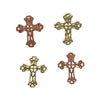 5x4mm Gold Cross Deco Metal Sheet Nail Art