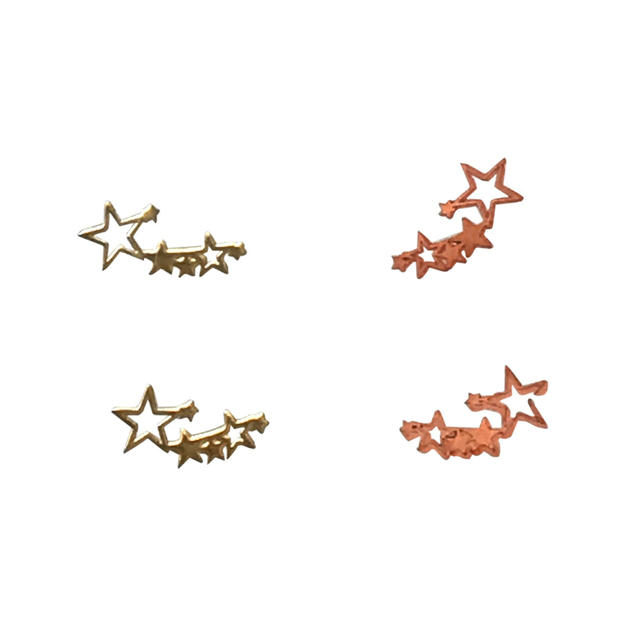 1x5mm Gold Falling Star Deco Metal Sheet Nail Art