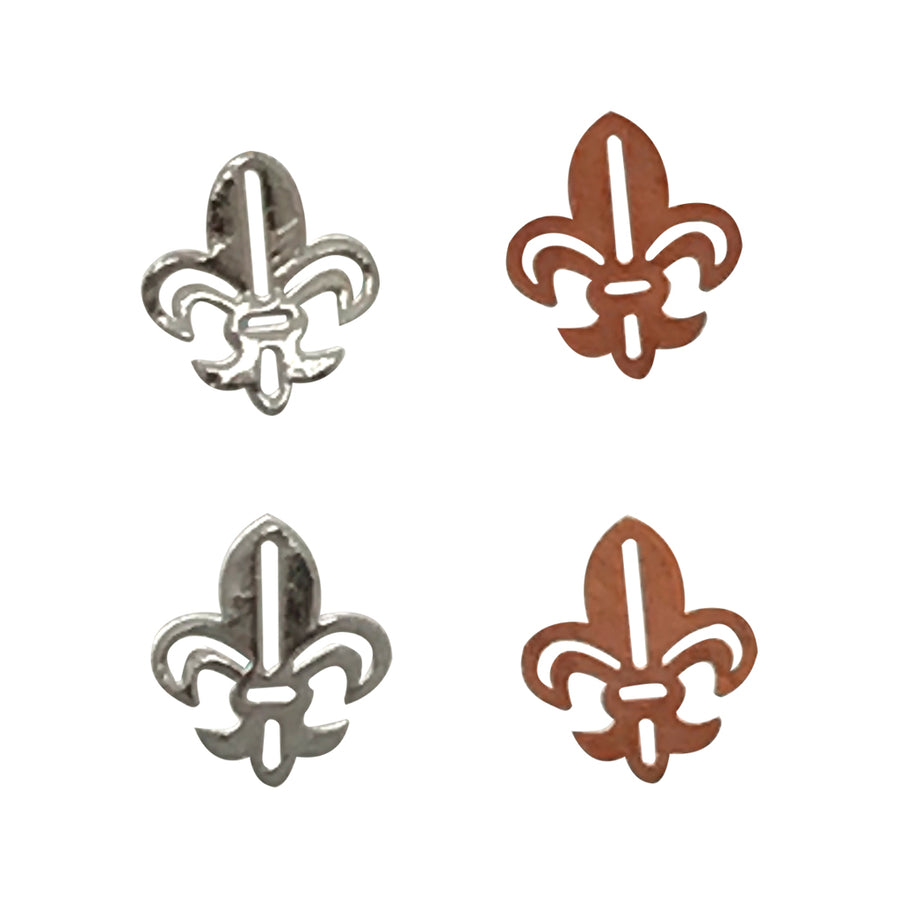 4mm Silver Fleur de Lis Deco Metal Sheet Nail Art