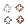 8mm Silver Floral Cross Deco Metal Sheet Nail Art