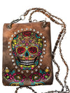 Sugar Skull Collection Western Crossbody Bag