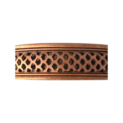 7-8 Inch Teardrop Cut Outs Copper Cuff Bracelet With Magnetic Ends