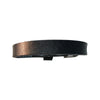 6-8 Inch Plain Black Leather Bracelet