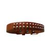 7-9 Inch Brown Leather Studded Bracelet