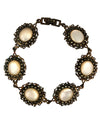 7.5 Inch Antiqued Sterling Silver and Mother of Pearl Bracelet
