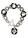 Rope Ringlets and Horseshoe Toggle Bracelet, 7 Inches