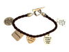 Multi Charm Toggle Bracelet, 8 Inches