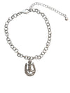 Horseshoe and Boot Charm Bracelet, 7.5 Inches