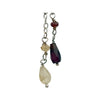 55mm Heated Citrine with Natural Garnet and Sterling Silver Fishhook Earrings