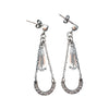 40mm Sterling Silver and Cubic Zirconia Earrings