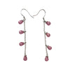50mm Sterling Silver and Cubic Zirconia Briolette Chandelier Earrings