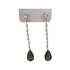 64x10mm Sterling Silver and Olivine Cubic Zirconia Teardrop Post Earrings