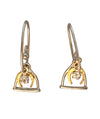 12x10mm Stirrup Horseshoe Dangle Earrings