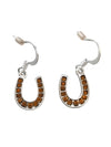 15x12mm Crystal Horseshoe Earrings