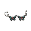 20x29mm Imitation Turquoise And Coral Butterfly Earrings