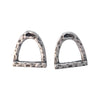 15mm Silver Finished Stirrup Post Earrings
