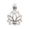 17mm Lotus Flower Aromatherapy Diffuser Locket Pendant