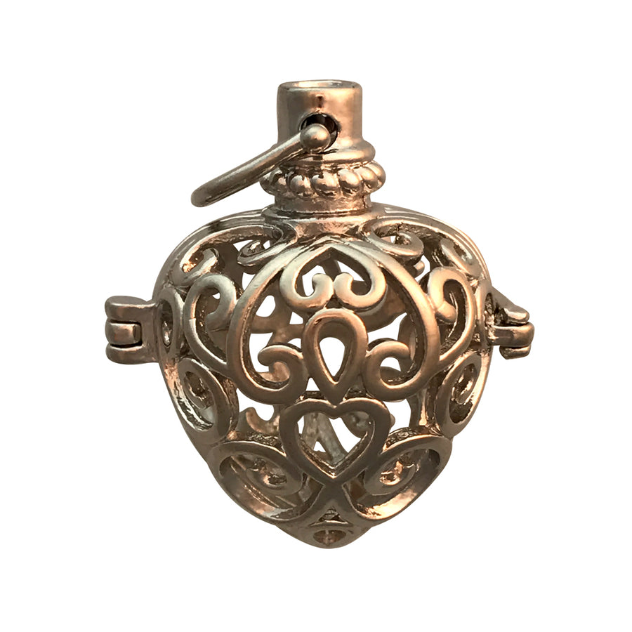 20mm Puffed Heart Aromatherapy Diffuser Locket Pendant