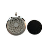 30mm Flower Aromatherapy Diffuser Locket Pendant With Oil Pad