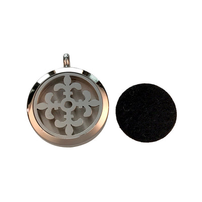 30mm Fleur de Lis Aromatherapy Diffuser Locket Pendant With Oil Pad