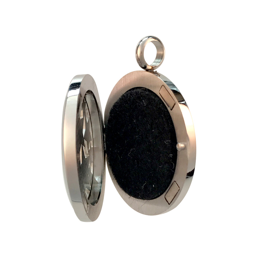 30mm Stars Aromatherapy Diffuser Locket Pendant With Oil Pad
