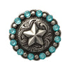 1 Inch Swarovski Light Turquoise Crystal Star Berry Concho