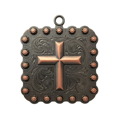 2-1/4 Inches Cross Square Berry Concho