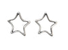 14x14mm JBB Findings Sterling Silver Star Bead Frame