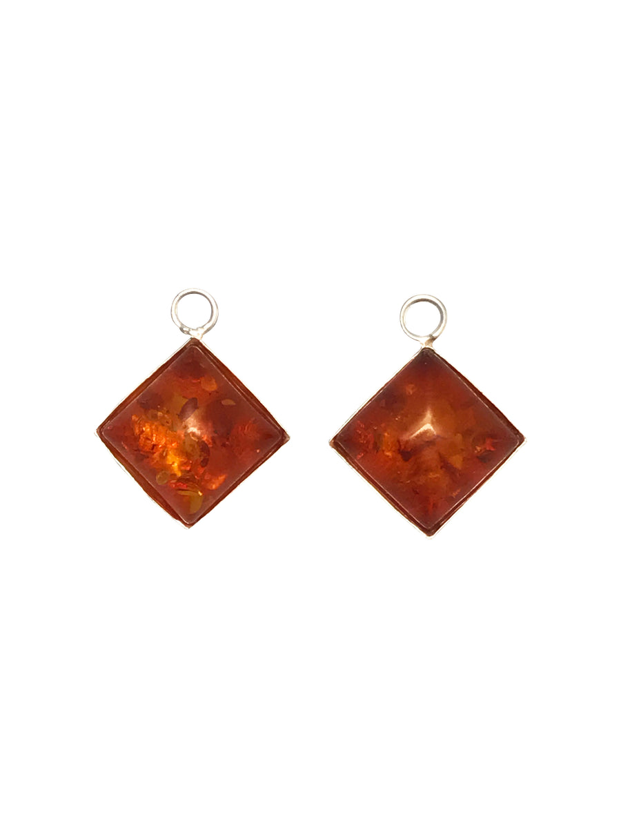 11x11mm Baltic Amber (H) Diamond Charm