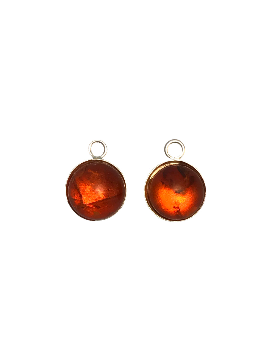 8mm Baltic Amber (H) Round Charm