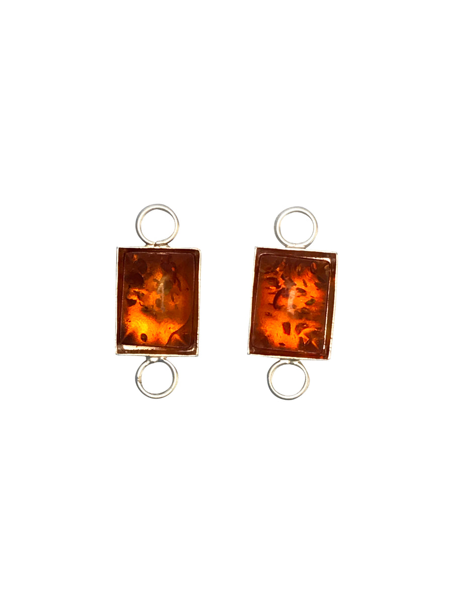 9x6.5mm Baltic Amber (H) Rectangle Link