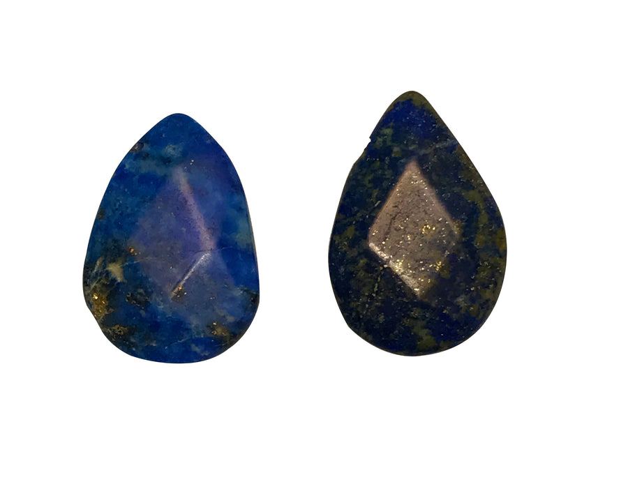 13x10-18x12mm Denim Lapis (N) Hand Cut Teardrop