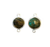 12mm Labradorite (N) Double Sided Faceted Round Link