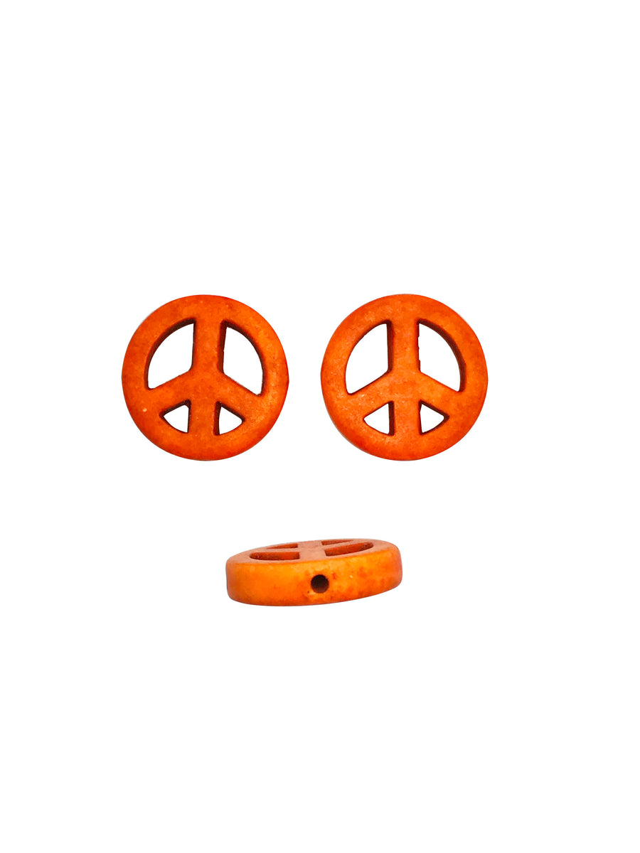 15mm Magnesite (D) (S) Peace Sign Designer Quality